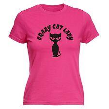 Crazy Cat Lady WOMENS T-SHIRT Tee Kitty Kitten Hen Gf Funny birthday gift