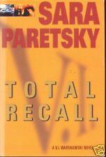 TOTAL RECALL ~ Sara Paretsky ~ 2001 HC DJ