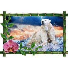 Sticker Bambou déco ours polaire 979