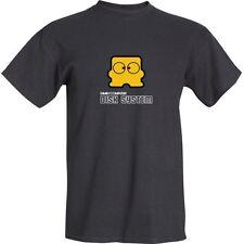 Nintendo Famicom Disk System Diskun Mascot Logo 100% Cotton Graphic T-Shirt