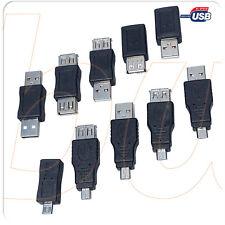 Conectores y adaptadores USB varios modelos MICRO - MINI - TIPO C -