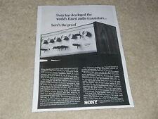 Sony 1968 Ad, 1 pg, TA-1120 Amplifier, Article, Specs, Info
