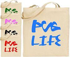 Pug Life Grand Sac Fourre Tout Coton Shopping Voyou Blague Amusante Vet Animal