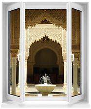 Sticker fenêtre fontaine orientale 100x120cm réf F506