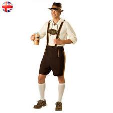 Oktoberfest Beer Guys Costume Men's Lederhosen German Bavarian Outfit Plus Size