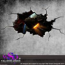 Espacio Meteor Asteroid MUNDO agrietado 3d - Adhesivo Pared De Niño mural 11