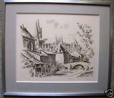 Belle Gravure  Cathédrale CHARTRES  Jacques Deschamps