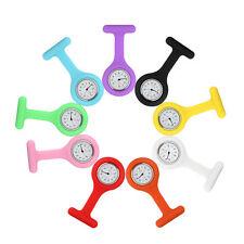 Silikon-krankenschwester Uhr Kittel Quarz Anhänger Tasche Brosche Waschbar