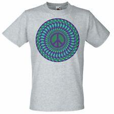 Grey Spiritual Psy-Trance Peace Hippy T-Shirt Psychedelic Goa Mandala TShirt