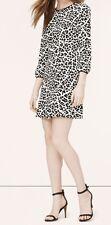 Ann Taylor LOFT Wild Cat Flippy Dress Size 0, 4, 8 NWT Crisp Ivory Color