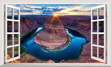 Grand Canyon Horseshoe Bend Colorado River Magic Window Wall Art Adhesive Poster