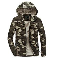 Mens Jacket Camouflage Hood Coat Windbreaker Warm Loose Casual Outwear Zipper