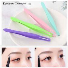 Useful Eyebrow Tweezer False Eyelash Clip Brow Trimmer Hair Removal Makeup Tool~