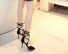 Décollte Scarpe decolte sandali donna tacco stiletto 9 cm nero schiava 9181