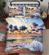 3D Wave Sky Nature 79 Bed Pillowcases Quilt Duvet Cover Set Single Queen King CA