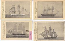 Bateaux à voile Francis1807,Friendship 1797, Franklin 1800 Navigator 1841 4CPA