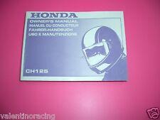 LIBRETTO USO & MANUTENZIONE HONDA CH 125 SPACY 1993>