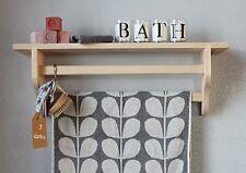 wall bathroom shelf wood - wall mounted towel rail double
