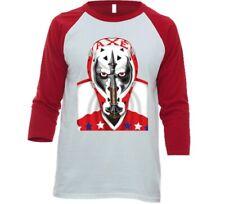 Washington Capitals Gary Smith 3/4 Sleeve Tee Shirt w/ Goalie Mask T-shirt