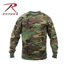Rothco 6778 Long Sleeve Camo T-Shirt - Woodland Camo