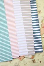 Sea Stripes Card Stock 250gsm striped print wedding save the date craft postcard
