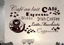 WandTattoo Spruch CAFE Herz COFFEE KAFFEE  KÜCHE  wkf20