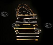 Silver/Gold Shirt Collar Clip Bar Pin Clip Chain Tie Sticks Necktie Accessoy MM
