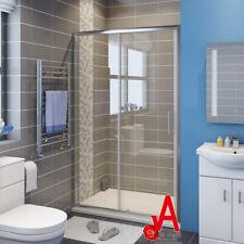 1000-1700mm Wall to Wall Flamed Sliding door Shower Screen Rail Adjustable