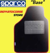 Set 4 Tappetini Tappeti Tuning SPARCO BASE Bordo Rosso