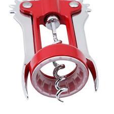 1 Pcs Stainless Steel Wine Opener Waiter Bottle Corkscrew Handles Opener D