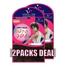 "[2PACKS DEAL] Vivica A Fox-Remi 100% Human Hair Afro Kinky Bulk 16"" BRAID HKBK16"