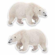 2 x 10cm Polar Bear Vinyl Stickers Decals Laptop Ski Snowboard Surf Cool #9646