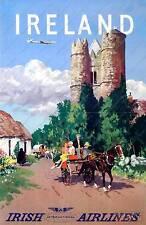 Irlanda: Vintage De Viajes Publicidad Cartel reproducción