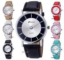 Onorevoli Moda Retrò Quadrante Cinturino in pelle analogico da polso al quarzo orologi regalo