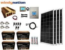 400W 12V MPPT Solar Panel Kit + Power Inverter + AGM Battery RV Boat Off Grid