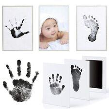 Handabdruck und Fußabdruck Baby Fotorahmen Set für Neugeborene Mädchen Jungen DE