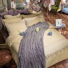 3D Simple Lace 80 Bed Pillowcases Quilt Duvet Cover Set Single Queen King CA