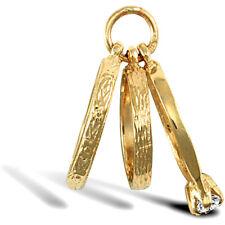 Jewelco London Señoras Oro Amarillo 9k encanto colgante