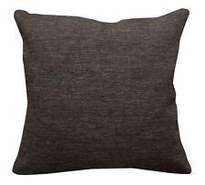 Qa105Ca Brown Rough Linen Blend Check Stripe Cushion Cover/Pillow Case*Cust-Size