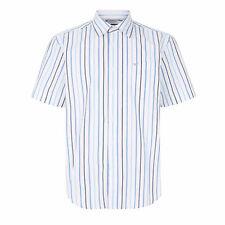 Morley Mens Lightweight Stripe Buttoned Short Sleeve Shirt LJ602M