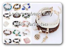 Original Bracelet en Cuir Italy Cuir Bracelet shamballa acier inoxydable style peau Couture