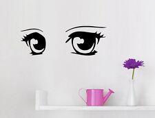 Manga Eyes - Anime Auge Blick Mädchen Kinderzimmer Deko Wandaufkleber WandTattoo