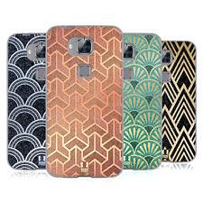 HEAD CASE DESIGNS CON TEXTURE Art deco motivi Soft Gel Custodia per Huawei Telefoni 2