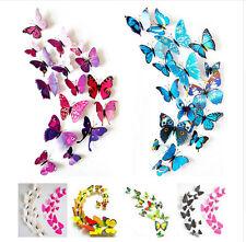 12 x Piesas Decoración de Arte Mariposas 3D Para Pared de La Casa Estilo Mas