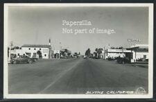 CA Blythe RPPC 1947 STREET SCENE Texaco Gas Station CARS Stores by Frashers