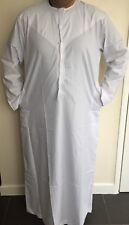 *NEW* Mens Emirati/Arab/Islamic Kaftan/Jubbah/Top/Kurti White Cotton Sizes 52-62