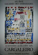 CARGALEIRO Affiche en sérigraphie 1983 art abstrait abstraction Portugal