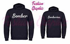 COPPIA FELPE CAPPUCCIO BOMBER BOMBERINA UOMO DONNA AMORE SWEATER NERE OFFERTA
