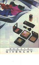 PUBLICITE ADVERTISING 1989 GIVENCHY cosmétiques blush                     220912