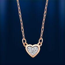 Russische Rose Rotgold 585 Collier kleines Herz mit Brillanten Stilvoll!